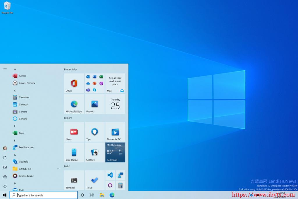 [教程] 微软提前向 Windows 10 v2004 版提供新版开始菜单可强制开启-国外主机测评