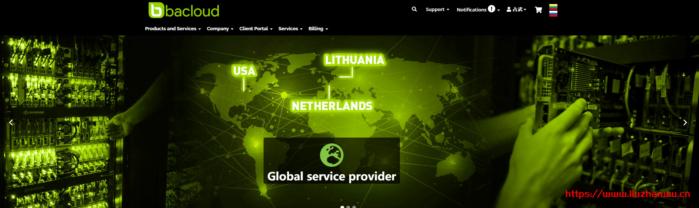 bacloud:高性能VPS,500Mbps或1Gbps带宽,不限流量,美国/荷兰/立陶宛,低至€26.7/年