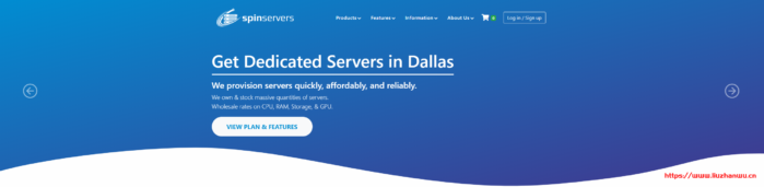 Spin Servers:$139/月/2*E5-2630L v3/256GB内存/4TB SSD硬盘/10TB流量/10Gbps带宽/达拉斯