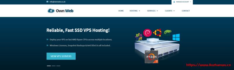 GetWebHosting:£17.99/年/Ryzen/1GB内存/16GB NVMe空间/不限流量/1Gbps端口/DDOS/KVM/法国/英国/德国等