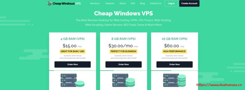 CheapWindowsVPS:$9/月KVM-4GB内存,50G SSD硬盘,1Gbps不限流量,9个机房