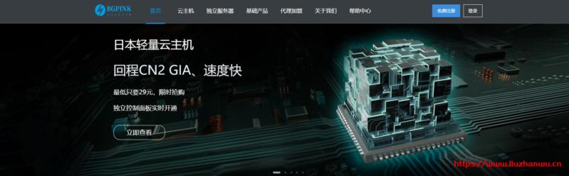 BGPINK:22元/月/1GB内存/10GB SSD空间/100GB流量/10Mbps-40Mbps端口/KVM/韩国LG/日本CN2 GIA/香港