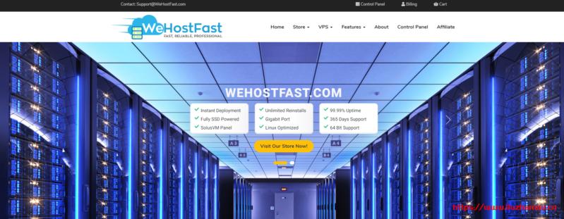 wehostfast:5折优惠码,洛杉矶便宜VPS,$12/年,1G内存/1核/10gSSD/1T流量