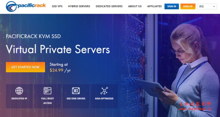 Pacificrack:$12/年/1GB内存/20GB SSD空间/2TB流量/200Mbps端口/KVM/洛杉矶CN2 GT