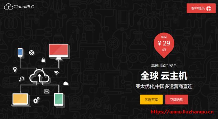 CloudIPLC:泉州CN2 VDS特价,1H/1G/20G-HDD/4TB@100M,年付5399元