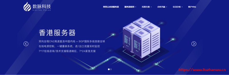 #优惠#数脉科技:E3-1230v2/8G/240G SSD/20Mbps不限流/香港CN2/月付433元