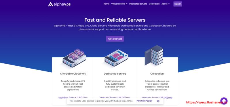 AlphaVPS:€5.99/月/4核/8GB内存/45GB SSD空间/2TB流量/OVZ/KVM/保加利亚/英国/德国/洛杉矶等