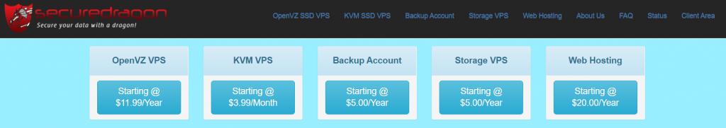 Secure Dragon:美西坦帕OpenVZ VPS,128MB内存,25GB空间,10TB月流量,年付5美金-国外主机测评