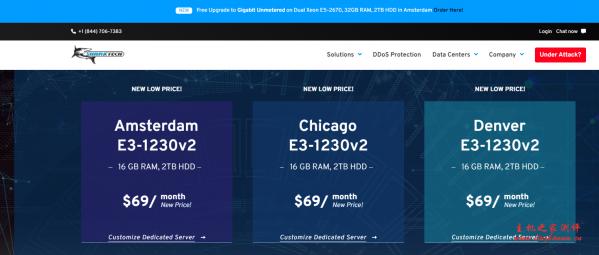 Sharktech:1G无限流量洛杉矶高防服务器每月89美元起,芝加哥每月79美元起-国外主机测评