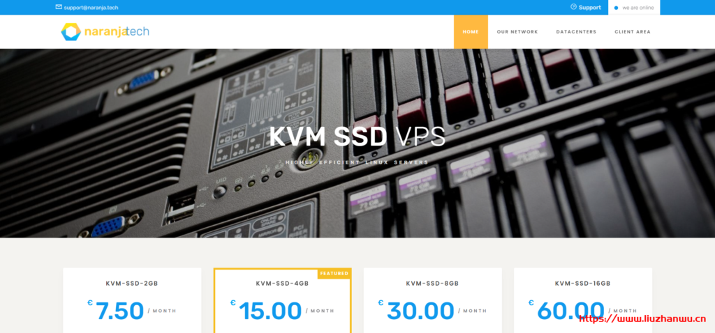 Naranjatech:€12/年/AMD EPYC 7542/1GB内存/15GB NVMe空间/2TB流量/1Gbps端口/KVM/荷兰