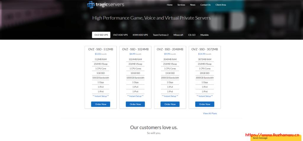 Tragicservers:主机商OpenVZ架构促销年付最低7美元,可选洛杉矶、弗里蒙特、达拉斯和纽约