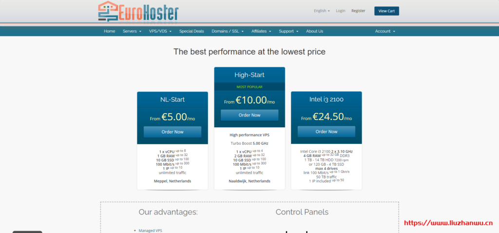 EuroHoster:E-2146G/32G/2*480G SSD/50T流量/1Gbps/8IP/西班牙马德里/月付$148