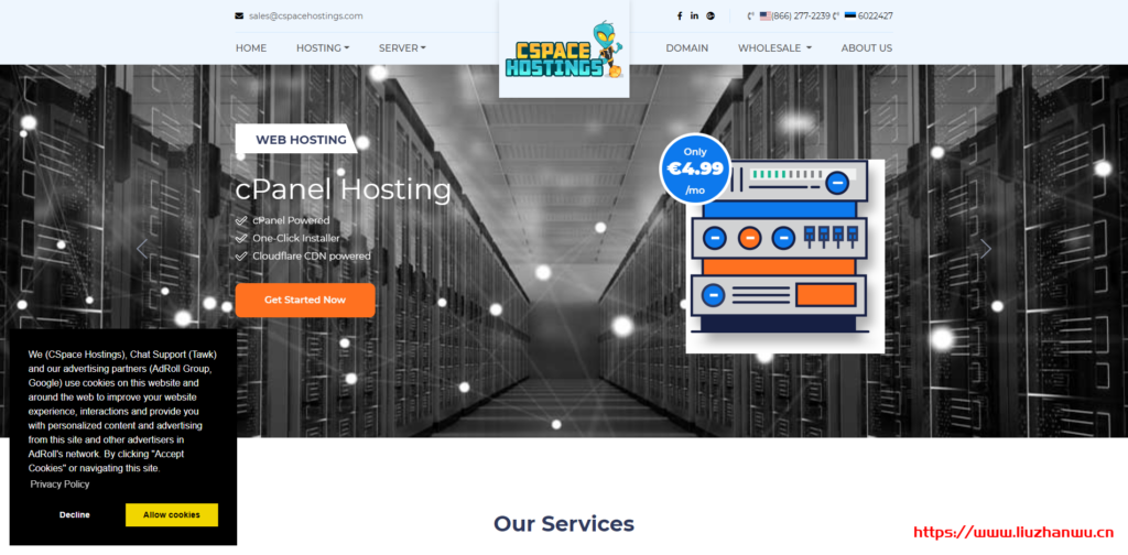 CSpace Hostings:€19.99/年/1GB内存/20GB SSD空间/2TB流量/4Gbps端口/KVM/爱沙尼亚