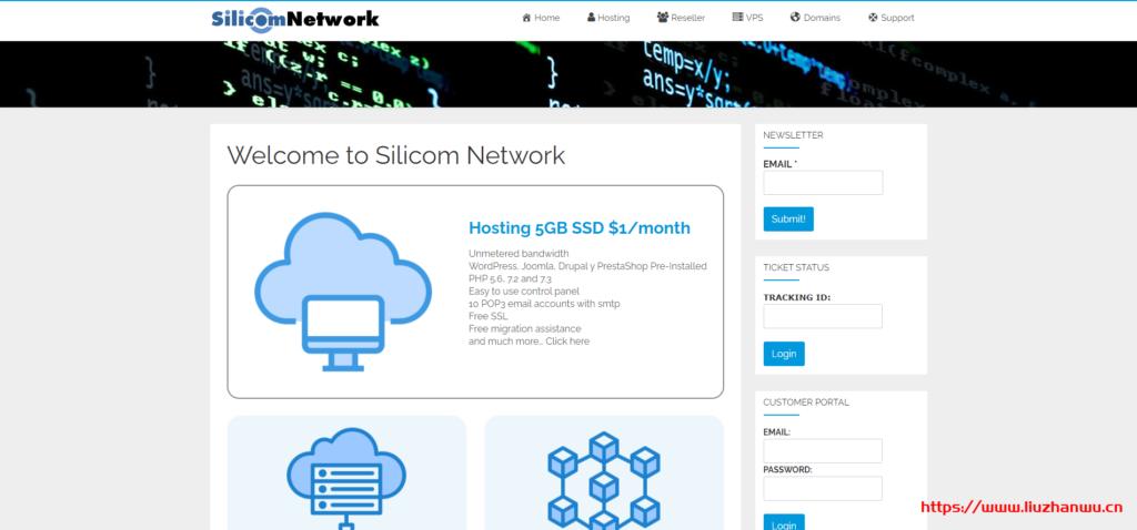 silicomnetwork:美国虚拟主机,SSD硬盘,不限空间、不限流量,年付12美金
