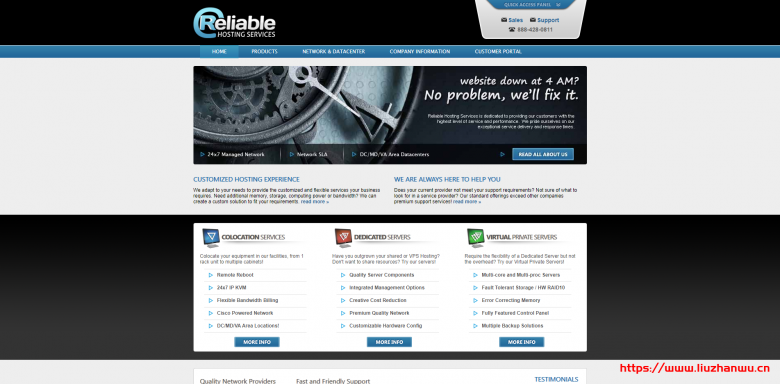 Reliable Hosting:双E5-2650v2/64GB内存/1.2TB SSD/1Gbps端口月流量10TB/5IP/$30/首月-国外主机测评