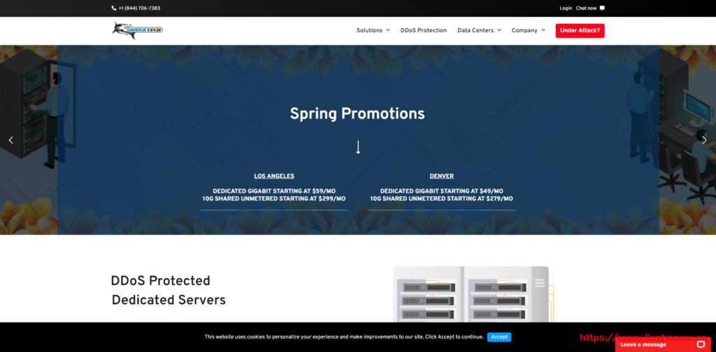 Sharktech:荷兰独立服务器/10Gbps端口/不限流量/100Gbps免费DDoS保护/319 美元/月-国外主机测评