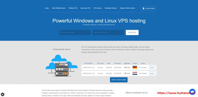 VirtVPS:抗投诉瑞士VPS上线/可选Windows系统/1核1G内存25GB存储/1Gbps端口月流量1TB/10美元/月-国外主机测评