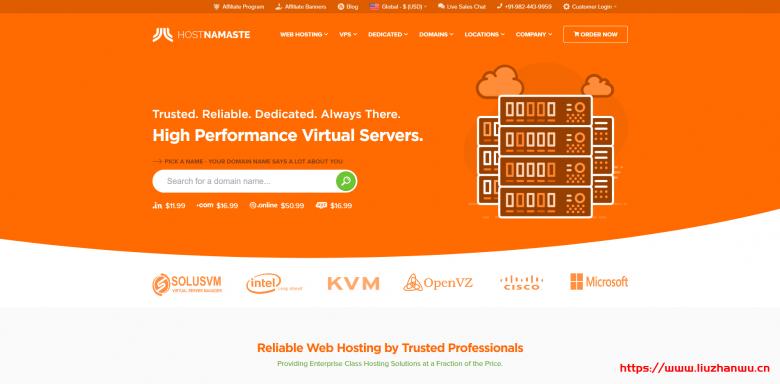HostNamaste:美国大硬盘KVM VPS半价优惠/1核1G/128GB/1Gbps端口/年付30美元起-国外主机测评