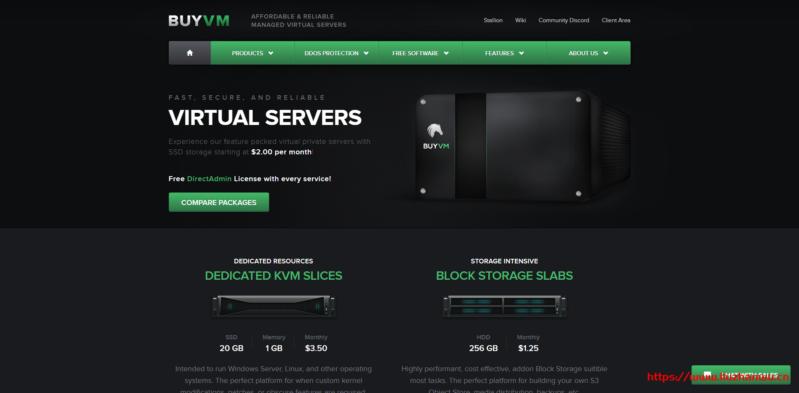 Buyvm:VPS/块存储补货通知/AMD Ryzen高性能VPS/1Gbps端口不限流量/免费DirectAdmin、Blesta、windows/$2起/月-国外主机测评