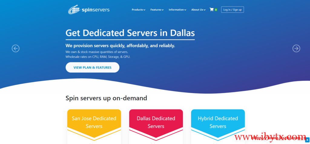 SpinServers:美国服务器促销/2*e5-2630Lv2/64g内存/1.6T ssd/10Gbps带宽/$89/月起-国外主机测评